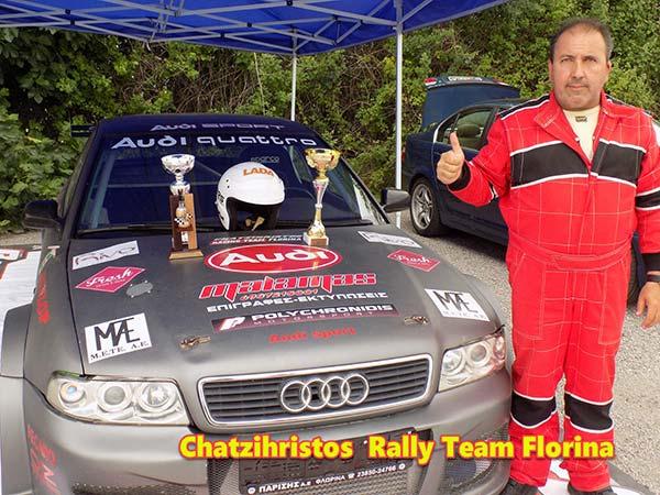 Photo of 1ος ο Τάσος Χατζηχρήστος και η ομάδα του Chatzichrisros Rally Team Florina