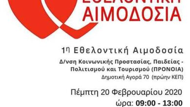 Photo of 1η εθελοντική αιμοδοσία στον Δήμο Φλώρινας