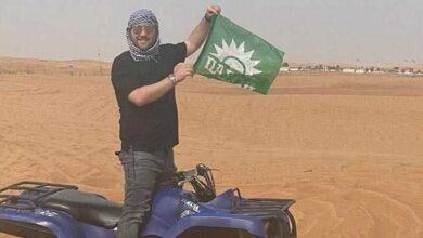 Photo of Μόνο ΠΑΣΟΚ! Ταξίδεψε στο Ντουμπάι και όλοι ρωτούσαν για τη σημαία που είχε πάντα μαζί (Φωτό)