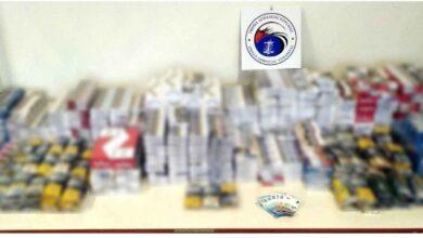 Photo of Πτολεμαΐδα – Κατασχέθηκαν συνολικά 2.126 αφορολόγητα πακέτα τσιγάρων και 6 κιλά και 450 γραμμάρια λαθραίου καπνού