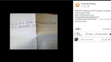 Photo of Συγκλονίζει 9χρονος στην Πάτρα: Μην το πείτε στη μαμά μου, τρώμε μία εβδομάδα ρύζι